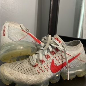 Red and Gray Nike Vapormax